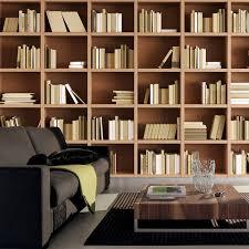 Bookshelf Online Custom Photo Wallpaper Large Custom Wallpaper Mural Bookshelf Cafe
