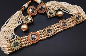 white pearls necklace designs images Satyam jewellery nx white designer pearl necklace fashion jpg