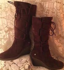 s lace up boots size 9 wedge suede lace up boots for us size 9 ebay