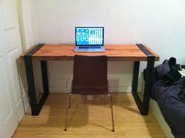 Steel Office Desks Wood And Metal Office Desk Entrancing Bedroom Decor Ideas Or Other