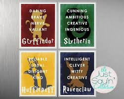 Harry Potter Bathroom Accessories Harry Potter Hogwarts House Typography Traits Of Gryffindor