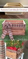 9 gorgeous ways to use a plain wooden crate for christmas crates