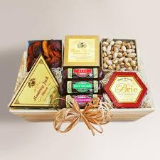 cheese gift hearty meat and cheese gift crate world market