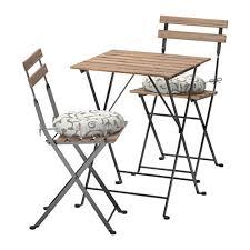 Ikea Folding Table And Chairs Tärnö Table 2 Chairs Outdoor Tärnö Black Brown Stained Stegön