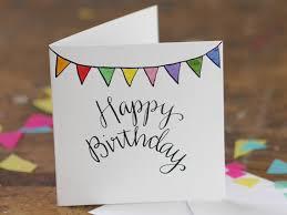 hand lettering happy birthday bunting von alicedrawstheline auf