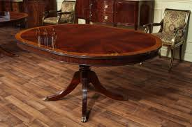 round dining table with leaf round mahogany dining table oval with
