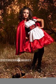 little red riding hood halloween costume dress and cape gothic
