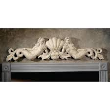 Architectural Pediment Design Design Toscano Mermaid Architectural Wall Pediment Ebay