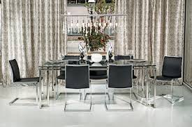 chrome dining room chairs tessa dining table mono chrome modern dining room houston chrome