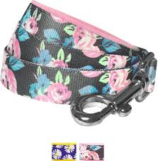 Floral Prints by Blueberry Pet Floral Prints Dog Leash 5 Ft 3 4 In Rose Chewy Com