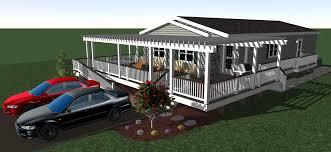 double wide deck n pergola 3d deck designs pinterest