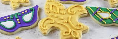 mardi gras cookies behance
