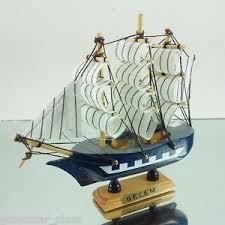 antique ship replica boat craft wooden model collectors home decor