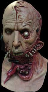 realistic alien host gory zombie ripping face undead halloween