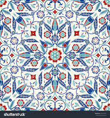 seamless turkish colorful pattern endless pattern stock vector
