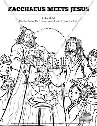 Luke 19 Story Of Zacchaeus Sunday School Coloring Pages Sunday Zacchaeus Coloring Page