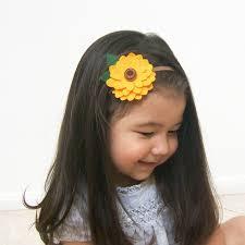sunflower headband sunflower headband ready to ship felt sunflower headband