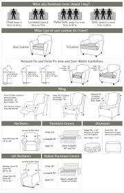 Lounge Chair Dimensions Standard Measuring Guide To Help You Choose The Right Size Slipcover For