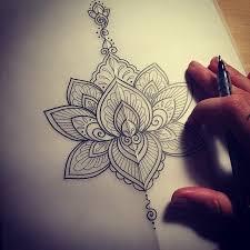 stencil of mandala flower