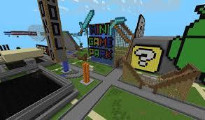 Minecraft Pe How To Download Maps Mini Game Amusement Park Adventure Minecraft Pe Maps