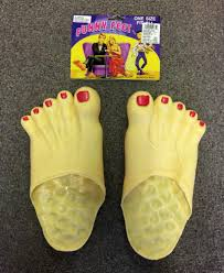 vinyl funny female feet slippers shoes halloween costume accessory