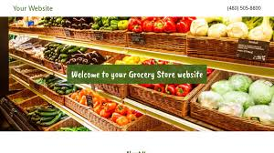 grocery store website templates godaddy