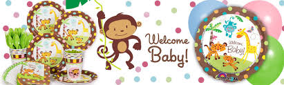 monkey baby shower theme fisher price baby birthday party supplies decorations and ideas