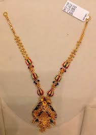 light weight gold necklace designs enamel paint jewellery archives page 3 of 3 22kgolddesigns