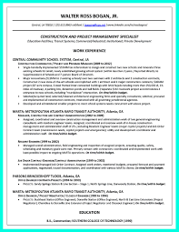 Construction Project Manager Resume Examples Construction Sr Project Manager Resume