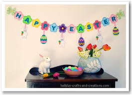 Easter Decorations To Sew by Easter Craft Ideas Felt Easter Garland