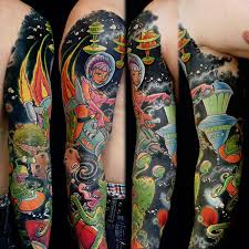 sleeve of watercolor tattoos in 2017 real photo pictures images
