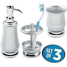 amazon com mdesign bath accessory set soap dispenser pump