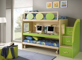 Loft Bed Plans With Stairs And Desk by Trundle Bunk Bed Storage Stairs And A Desk Cool Double Modern