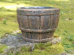 whiskey barrel planter u2013 m2 concrete concepts