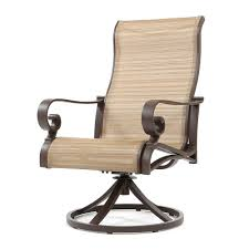 Swivel Outdoor Patio Chairs by Sunvilla Riva Sling High Back Swivel Rocker