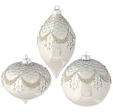 raz imports 4 beaded rhinestone gem tree ornaments