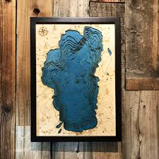 lake tahoe wood map lake tahoe 3d wood chart 16 x 12 on