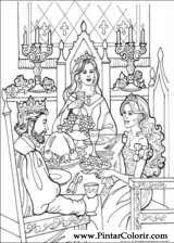 drawings paint u0026 colour princess leonora print design 026