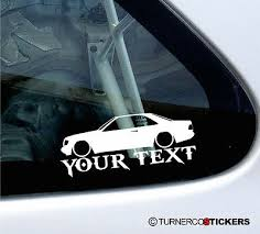mercedes decal custom text low mercedes coupe w124 c124 320ce 300 ce 220 sticker