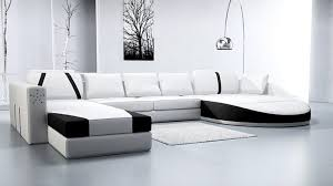 canaper en cuir canape cuir design prestige blanc noir canape