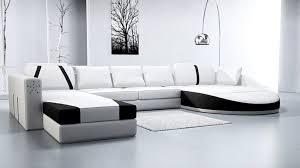canapé cuir contemporain design canape cuir design prestige blanc noir canape