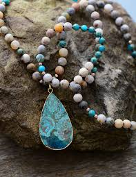 handmade pendant necklace images Turquoise stone pendant necklace colorful handmade moonshine jpg