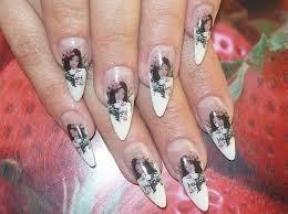 nails design galerie stilettos nageldesign weiß schwarz nageldesign bilder by world