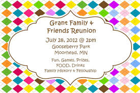 colorful reunion invitation card plus white background colors plus