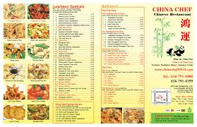 China Buffet Grand Rapids by China Chef Menu