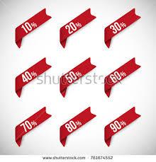 discount ribbon discount ribbon vector labels stock vector 761674552