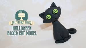 make a halloween cake black cat model how to make a black cat cake topper youtube
