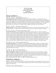sample resume for entry level certified nursing assistant thesis
