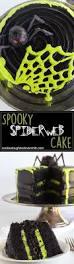 spooky spiderweb cake