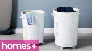purple laundry hamper diy project laundry basket homes youtube